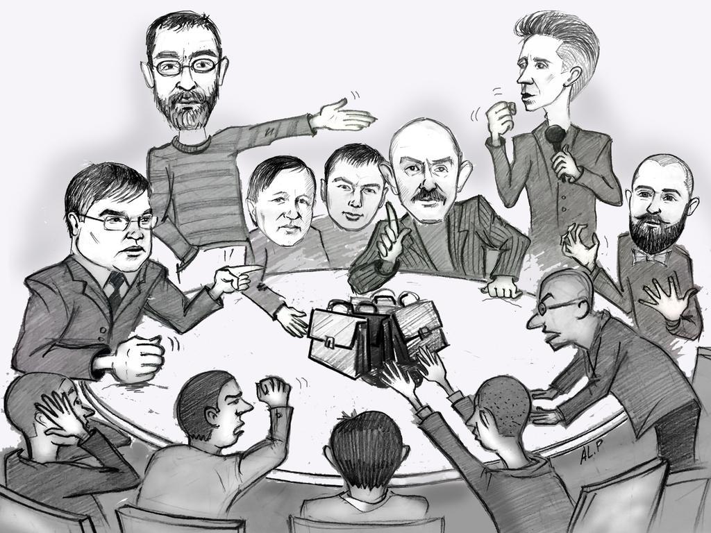"Карикатура на Корба, Костарева и других омских ""оппозиционеров"""